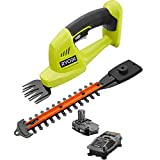 Ryobi ONE+ 18-Volt Lithium-Ion Cordless Grass Shear and Shrubber Trimmer - 1.3...
