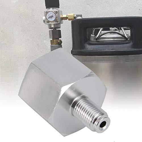 Emoshayoga Adaptador Homebrew Co2 de aleación de Zinc fácil de Usar, Adaptador de Co2, regulador de CO2, hogar para Acuario