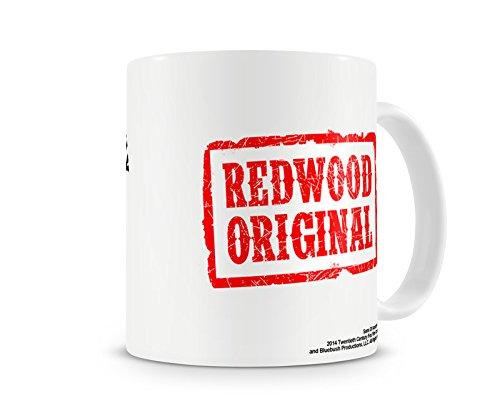 Taza de café original de Redwood con licencia oficial.