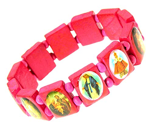 Elasticated Wooden Saints Bracelet/Jesus Bracelet/All Saints Bracelet - J