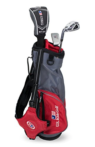 US kids Golf UL 39 Set Bolsa de Palos, Unisex niños, Rojo, 3 a 5 años