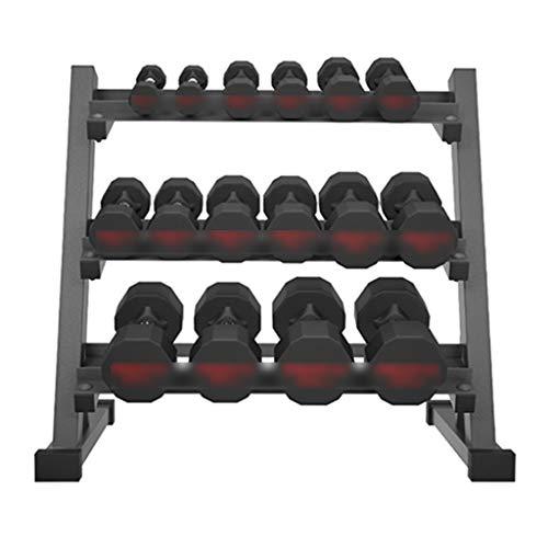 Soportes para Mancuernas Estante para Mancuernas para Hombres Fitness para El Hogar Acero Puro Fijo 12 Kg Juego De Mancuernas Profesionales Combinado En Uno (Color : Black, Size : 93.5 * 53 * 83cm)