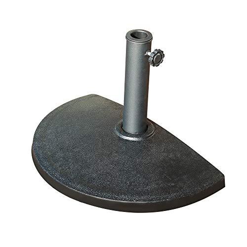 COBANA Half Round Patio Umbrella Base, Heavy-Duty Free Standing Resin Umbrella Stand, 20lb