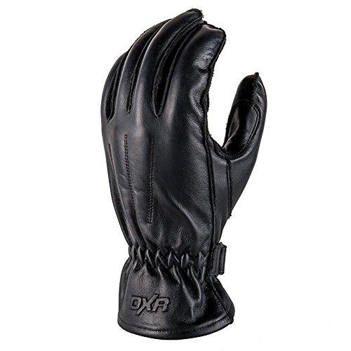 DXR Sanchez - Guantes largos para moto de piel para hombre, guantes de verano Negro M