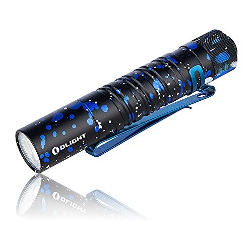 OLIGHT I5T EOS Mini LED EDC Linterna Pequeña 300 Lúmenes 60 Metros LED Blanco Frío Linterna Llavero EDC con Interruptor Trasero, Batería AA, Perfecta para Exteriores, Senderismo, Camping