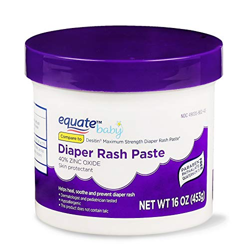 Equate Baby Diaper Rash Paste with 40% Zinc Oxide, 16 oz