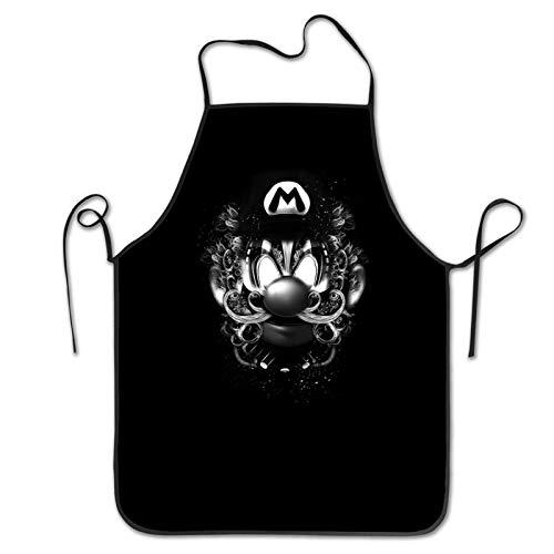 Delantal de cocina divertido negro para cocina, diseño de dibujos animados, para padre, marido, novio