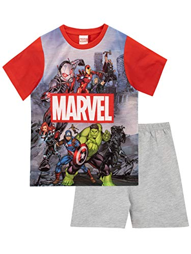 Marvel Jungen Schlafanzug Avengers Mehrfarbig 116