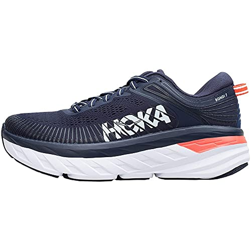 Hoka 1110519-BIBBL: Women's Bondi 7 Black Iris/Ballard Blue Running Shoe (8 B(M) US Women)