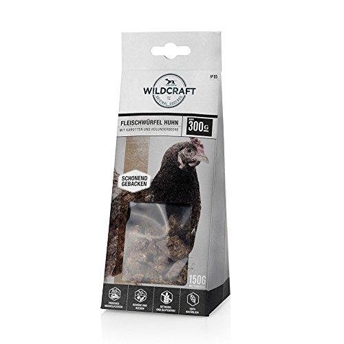 Wildcraft | Naturkausnack | Fleischwürfel Huhn | 5 x 150 g | frisches Muskelfleisch | Gemüse und Beeren | gesunde Belohnung | naturbelassen | ohne Zusatzstoffe und Geschmacksverstärker