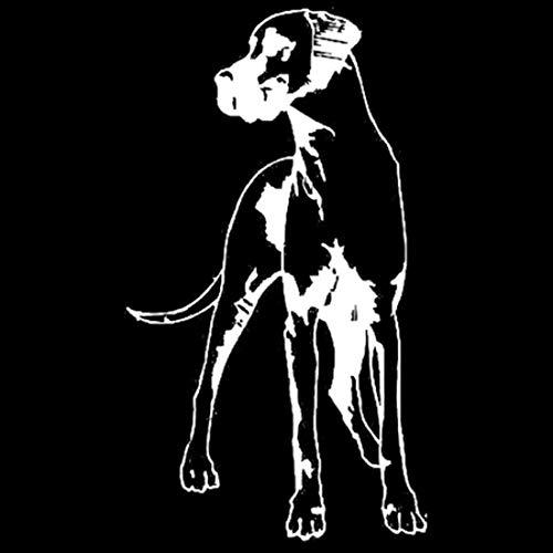 LJMING Great Dane Dog Vinyle Decal personnalité étanche Autocollants de Voiture Styling Décoration Noir/Argent 2pcs,White-8.3 * 14.7CM