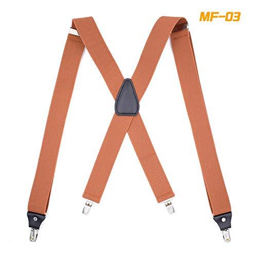 LLZGPZBD bretels mannen strak 4 clips riem monochroom instelbaar X type volwassenen riemclip X type goede clip