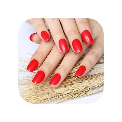2020 24pcs neue Kunst Explosion Modelle niedlichen Süßigkeiten oval ausgezeichnete Touch Design gefälschte Nägel Sexy rot P63X-3pcs-