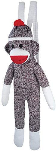 Pennington Bear Company The Original Sock Monkey Backpack, Hand-Knit, Plush Material, 24' Inch