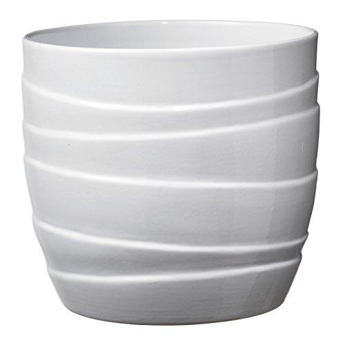 Soendgen Keramik, Barletta, Cache-Pot, Argile, weiß, 14 x 14 x 13 cm