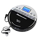Studebaker SB3705BW Super Sport Portable CD Player Plays CDs wirelessly Through car Radio Includes FM Stereo Radio and Color Coordinated Stereo Earbuds
