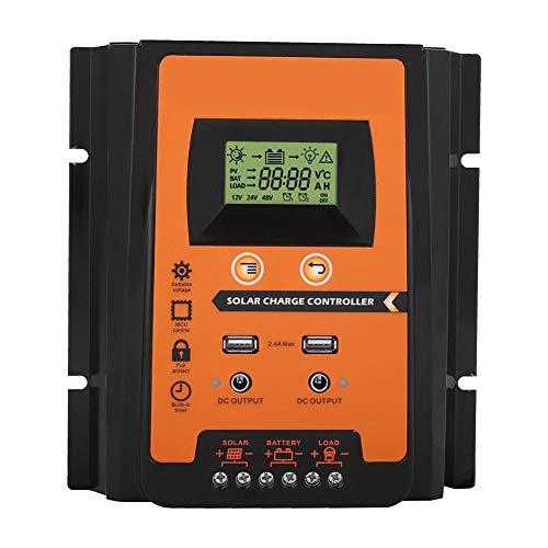 Contrôleur MPPT - 12V/24V 30A50A Contrôleur de charge solaire MPPT Régulateur de batterie de panneau solaire Double affichage LCD USB(50A) regulateur panneau solaire