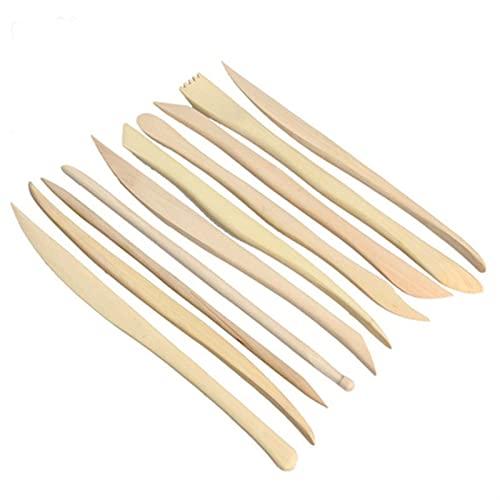 LIMX Herramientas de Tallado 10 Piezas/Conjunto de tallar artesanías de Madera Escultura de Arcilla cerámica Cuchillo Afilado Modelo Figuras Herramientas de cerámica