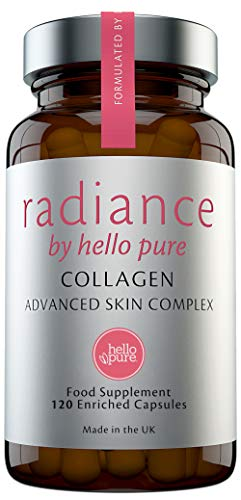 Ultra Potent Marine Collagen Supplement Complex 1865mg with Hyaluronic Acid & Immune Boosting Vitamins C & E – Hydrolysed Collagen Capsules Not Collagen Tablets – Healthy Skin, Immune System & Joints