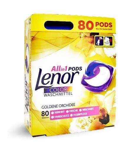 Lenor All-in-1 Pods Color Waschmittel - Goldene Orchidee - 80 Waschladungen
