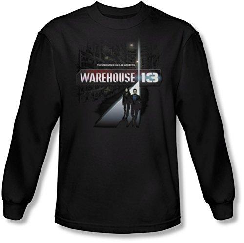 Warehouse 13 - Hommes Le T-shirt manches longues inconnu dans le noir, XX-Large, Black