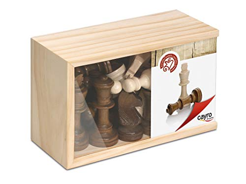 Cayro -  Figuras de Ajedrez -  Juego de Tradicional -  Juego de Mesa -  Desarrollo de Habilidades cognitivas -  Juego de Mesa (616C)