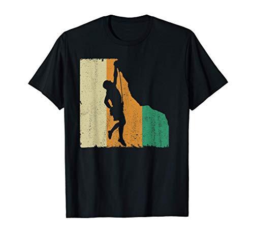 Homme Vintage Retro Escalade Alpinisme Alpinisme T-Shirt