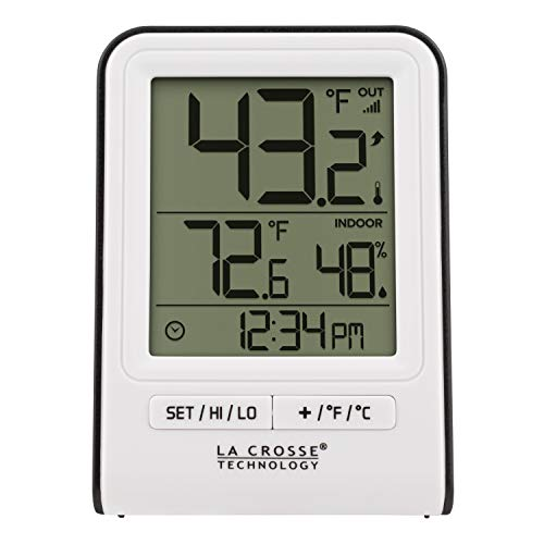 La Crosse Technology 308-1409WT-CBP Wireless Temperature Station, White