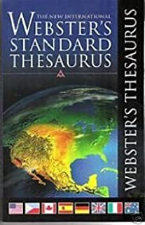 Webster's Standard Thesaurus by Not Available (2006-06-30)