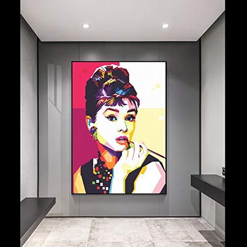 KWzEQ Quadro su Tela Poster di Moda per Star del Cinema e Decorazioni per la casa per soggiorno70x90cmPittura Senza Cornice