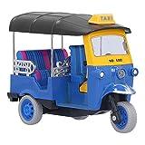 Jopwkuin Tire hacia Atrás del Coche De Juguete, Funcionamiento Simple, Color Brillante, Tire hacia Atrás del Triciclo Tailandés para Exteriores para Niños para El Hogar(Azul)