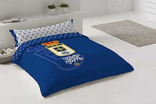 Funda NÓRDICA Azul Cama 150 cm Real Oviedo