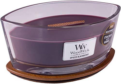 WoodWick, candela profumata con candela Hearthwick Flame, paraffina speziata Apple basket, Ellipse