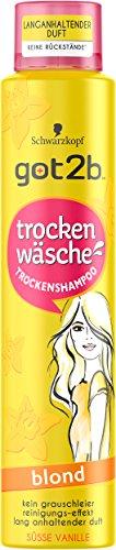 Schwarzkopf Got2b Trockenwäsche Trcokenshampoo, Blond, 3er Pack (3 x 200 ml)