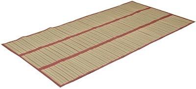 3枚つなぎい草のシーツ 『プチ 汗取りパッド』 ブラウン 約100×200cm