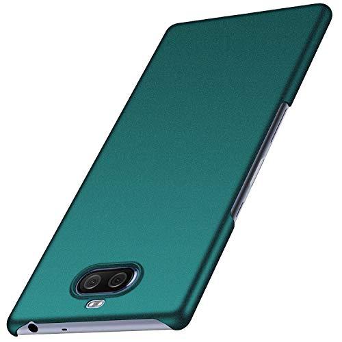 Kqimi Hülle für Sony Xperia 10 Plus Superdünne Leichte Matte Handyhülle Einfache Stoßfeste Kratzfeste Ganzkörper Hülle kompatibel mit Sony Xperia 10 Plus (Kies Grün)
