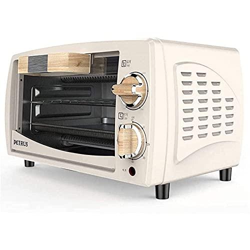 Horno eléctrico de sobremesa 10L Mini horno tostador eléctrico Hornos multifunción de cocción Recirculación 3D para hornear 800W