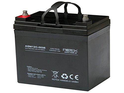 Preisvergleich Produktbild Rotek 12V 35Ah AGM Blei-Säure Fliesakkumulator,  Common Use für allgemeine Anwendungen