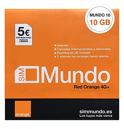 Orange Spain - Tarjeta SIM Prepago 10 GB en España | 5€ de saldo | 5.000 Minutos Nacionales | 50 Minutos internacionales | Activación Online Solo en www.marcopolomobile.com