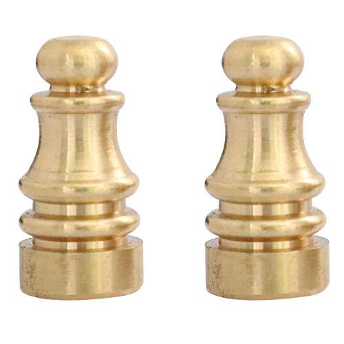 Youliang 2 unids lámpara de mesa decoración lámpara finial sombra finial decoración accesorios cobre decorativo cabeza lámpara decorativa ajedrez cabeza accesorios