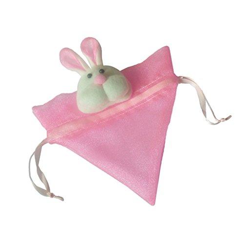 F Fityle Cestini Di Uova Di Pasqua Regalo Sacchetto Di Pulcino Giallo Tessuto Non Tessuto Carino Pulcino - Rosa, 19 x 16 cm