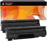 Cartridges Kingdom Pack de 2 Compatibles Cartuchos de Tóner para HP CE278A 78A - Negro
