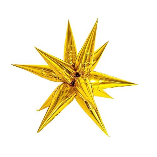 Globo de aluminio de estrella de explosión de 24 pulgadas, ceremonia de apertura de la fiesta de cumpleaños decoración de la boda suministros de decoración de fondo, dorado