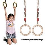 Nuovi anelli da ginnastica in legno da 25 mm per esercizi di fitness Esercizio da palestra...