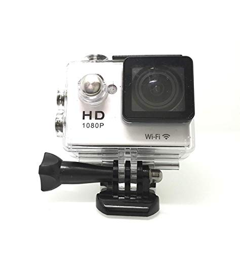RioRand RR-TV-BP-KW Car Recorder Diving Bicycle Action Camera (WiFi RS4000 Helmet Sports DV 1080P Full HD H.264 12MP 2.0Inch LCD 140° Wide Angle Lens (White))