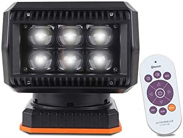 Abrams 60W 6000 Lumen LED Searchlight Spotlight Permanent Magnetic Mount Waterproof Search Light product image