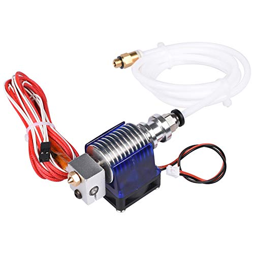 3D Printer J-head Hotend With Fan/Fit For 1.75/3.0mm 12V 3D V6 Bowden Filament Wade Extruder 0.2/0.3/0.4mm Nozzle+Volcano Kit Parts (Size : Teflon Tube 30)