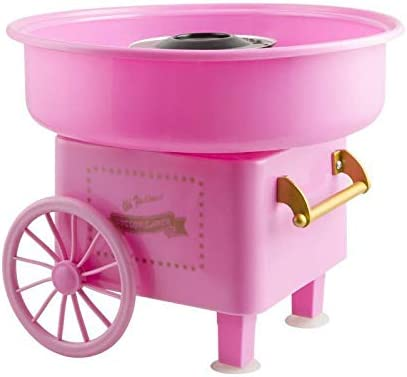 lowest Electric Commercial Cotton Candy Machine, Candy Floss Maker with Cart, Ready wholesale for Halloween new arrival - Homemade Sweets for Party (Pink) outlet sale