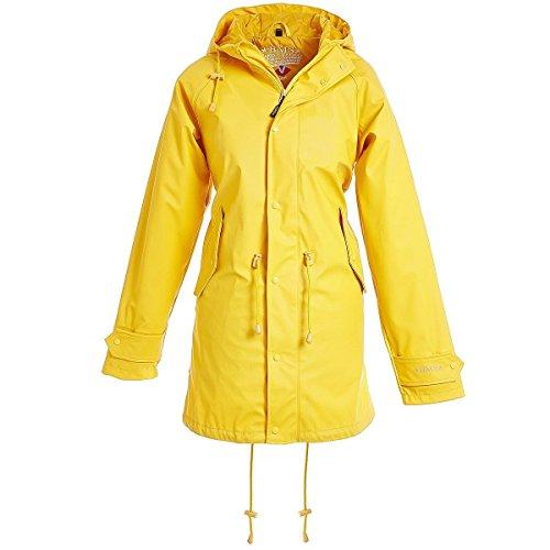 BMS Regenmantel Regenjacke - 100% wasserdicht - gelb Gr.48
