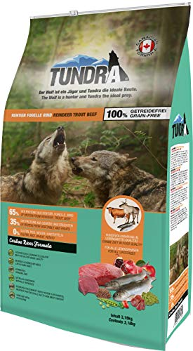 Tundra Hundefutter Rentier, Forelle & Rind - getreidefrei (3,18 kg)